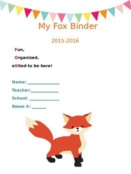 Fox Binder Cover