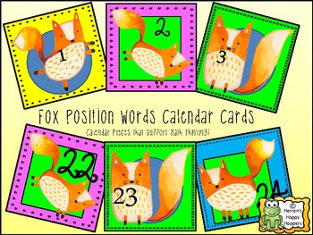 Calendar Date Cards - Fox Fun