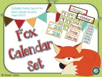 Fox Calendar Set