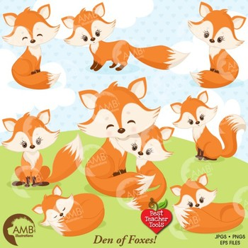 Fox baby. Clipart cute foxes mother