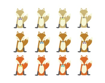 Fox Clipart, Fox, Clipart Set #208