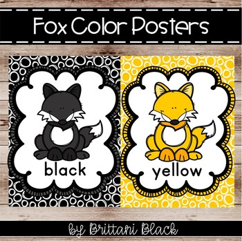 Fox Color Posters