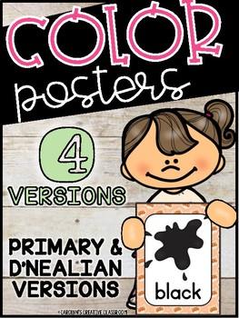 Fox Color Posters - Fox Classroom Decor
