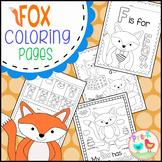 Fox wearing Socks Coloring