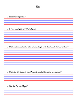 Fox Comprehension Questions and Stereotypes