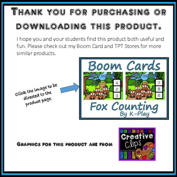 Fox Counting Freebie - Boom Cards Interactive