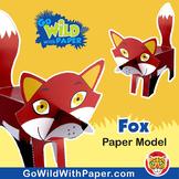 Fox Craft Activity | 3D Paper Model