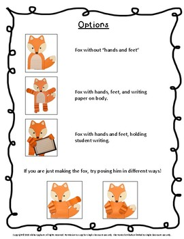 Fox Craftivity and Printables