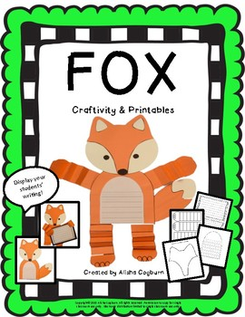 Fox Craftivity Worksheets & Teaching Resources | TpT