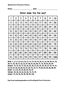 Fox - Hundreds Chart!