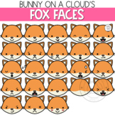 Fox Faces Clipart by Bunny On A Cloud
