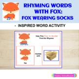 Fox In Socks: Rhyming Words With Fox - Dr. Seuss  - Inspired