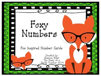 Fox Inspired Number Labels