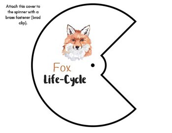 Fox Life-Cycle with Spinner and Montessori 3-Part Cards