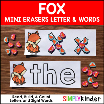 Fox Mini Eraser Letters and Words