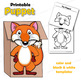 Puppet Fox Craft Activity | Paper Bag Puppet Template