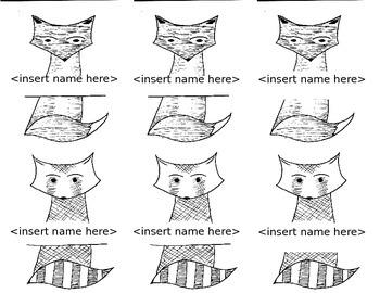 Fox & Raccoon Name Tags
