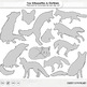 Fox Silhouettes and Black Line Art Images, Fox Clip Art, R