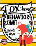 Fox Theme Behavior Chart System **editable**