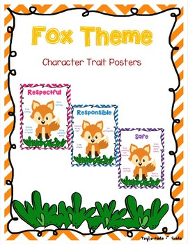 Fox Theme Character Trait Posters - Respectful, Responsible, Safe