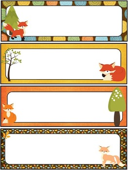 Fox Theme Classroom Bundle