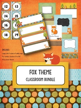 Fox Theme Classroom Bundle