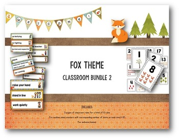 Fox Theme Classroom Bundle 2
