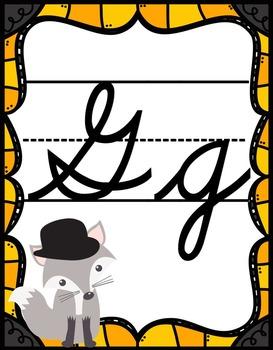 Fox Theme Cursive Posters