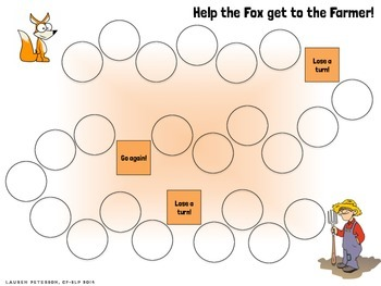 Fox Theme Open-Ended Game Board