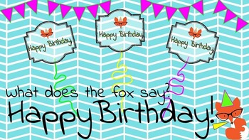 Fox Themed Birthday Cards