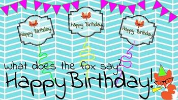 Fox Themed Birthday Cards