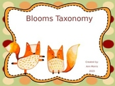 Fox Themed Blooms Taxonomy Posters