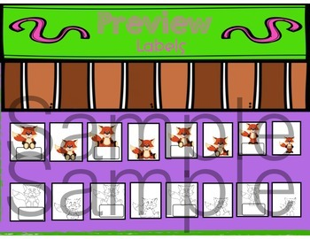 Fox Themed Bucket Fillers and Labels