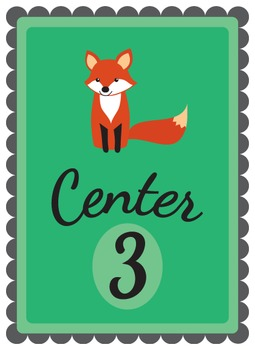 Fox Themed Centers Posters