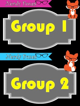 Fox Themed Group Posters