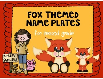 Fox Themed Name Plates for Desks