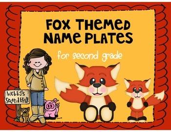 Fox Themed Name Plates for Desks