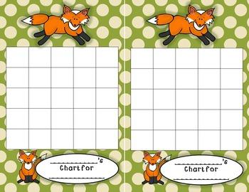 Fox Themed Polka Dot Classroom Decor Bundle Alphabet and Number Banners