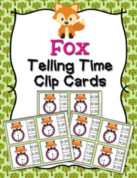 Fox Time to the Half Hour Clip Cards