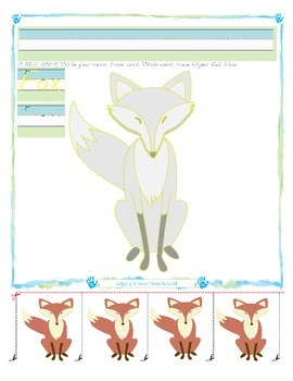 Fox Tracing and Cutting - Fine Motor Skills Practice - Autumn