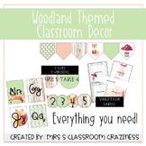 Woodland-Theme EDITABLE Classroom Decor Growing Bundle