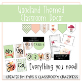 Woodland-Theme EDITABLE Classroom Decor Growing Bundle