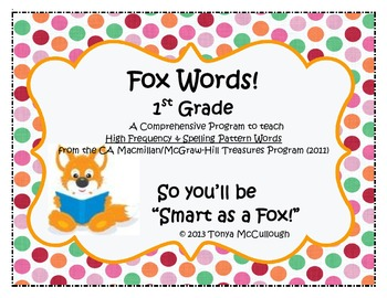 Fox Words - High Frequency Word / Spelling Pattern / Treasures Program