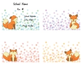 Fox and Dots Field Trip Templates