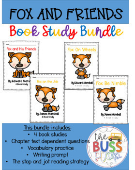 Fox and His Friends Comprehension Questions Bundle