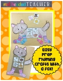 Fox, Socks, Rocks, Blocks, Box Rhyming Crafts
