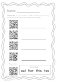 Fox and a Kit- QR Code high-frequency words- Scott Foresman
