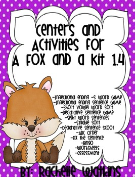 Fox and a Kit Reading Street Centers and Activities