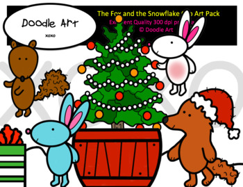 Fox and the Snowflake Clip Art Pack