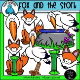 Fox and the Stork Clip Art Set - Chirp Graphics